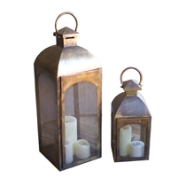 Set of Two Antique Bronze Lanterns