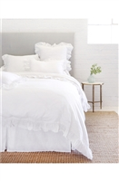Luxury Designer Charlie White Bedding Collection by Pom Pom at Home