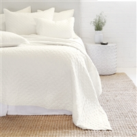 cream diamond quilted coverlet pillow shams