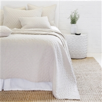 flax diamond quilted coverlet pillow shams