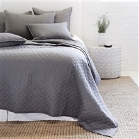 midnight diamond quilted coverlet pillow shams