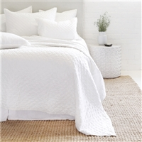 white diamond quilted coverlet pillow shams