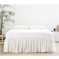 Gathered Linen Bed Skirt (color + size options