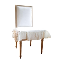 Organic Linen Seat Cover white flax linen