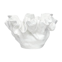 white free form ceramic bowl