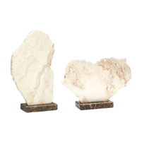 slab sculpture polished base crystal stone ivory