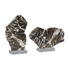 slab sculpture polished base marble stone gray