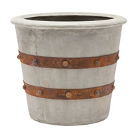 light gray concrete planter