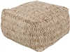 Surya Oak Cove Pouf - Sand Inspired Home Décor