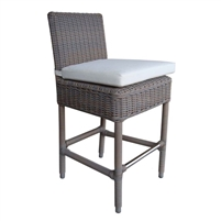 All weather woven outdoor counter and bar stool with aluminum frame