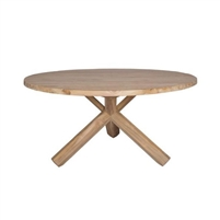 teak chat table natural finish round