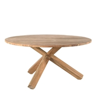 teak natural round dining table