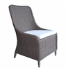 chair gray wicker woven four feet cushion white outdoors furniture dining