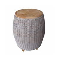 Padma's Plantation Outdoor Paradise End Table w/ Teak Top