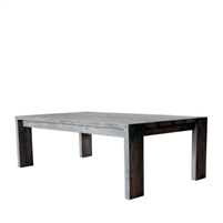teak coffee table gray finish