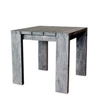teak end table gray finish square