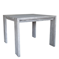 teak square dining table gray