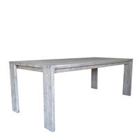 teak rectangle dining table gray