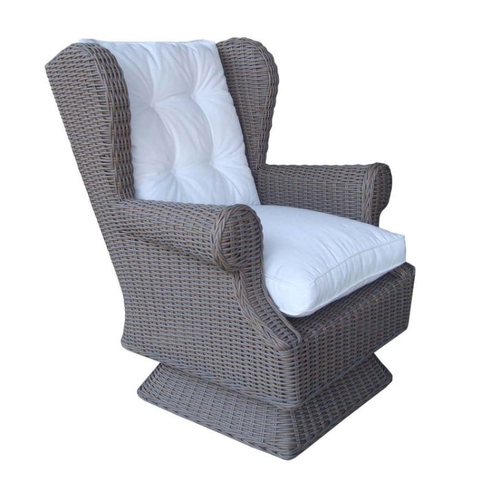 Groovy Outdoor Wing Swivel Rocking Chair All Weather Rattan Dailytribune Chair Design For Home Dailytribuneorg