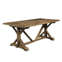table dining outdoor rectangle long reclaimed wood teak plank top