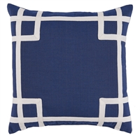Rio Navy Outdoor Pillow - Luxury USA-Made Home Décor | BSEID