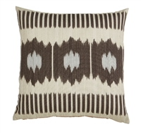 outdoor pillow abstract dark grey ivory off-white cream square