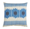 Lacefield pillow throw accent blue square 22x22 outdoor