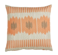 Lacefield pillow throw accent coral square 22x22 outdoor