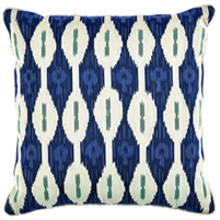 navy white square pillow