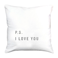 linen square pillow ps i love you