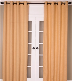 India's Heritage Butter Cream White Burlap Curtains & Drapery Panels