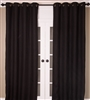 Black Burlap Curtain (MULTIPLE SIZES)