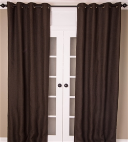 Espresso Burlap Curtain (MULTIPLE SIZES)