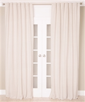 India's Heritage curtain panel drapery white cotton linen grommets