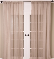 India's Heritage curtain panel drapery window treatment natural linen solid plain sheer unlined rod pocket