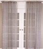 India's Heritage curtain panel drapery linen gray charcoal jute natural knots horizontal rows sizes rod pocket back tabs