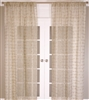 India's Heritage curtain panel drapery window treatment natural linen jute knots unlined horizontal rows rod pocket back tabs