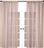 India's Heritage curtain panel drapery window treatment linen stripes gray taupe ivory off-white vertical unlined rod pocket