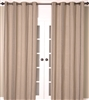 India's Heritage curtain panel drapery window treatment textured linen stripes vertical gray natural lined 8 grommets