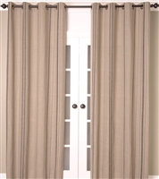 Linen Stripe Curtain / Natural & Grey (MULTIPLE SIZES)