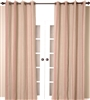 India's Heritage curtain panel drapery window treatment textured linen natural red stripes vertical lined grommets size options