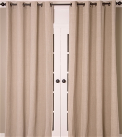 India's Heritage curtain panel drapery window treatment textured linen stripes vertical natural ecru neutral grommets lined size options