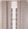 Chevron Cotton Linen Panel / Brown (MULTIPLE SIZES)