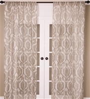 Ivory Print Curtain (MULTIPLE SIZES)