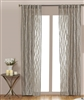 India's Heritage curtain panel drapery window treatment ready-made linen gray natural frayed rod pocket back tabs