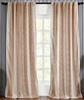 India's Heritage curtain panel drapery window treatment ready-made cotton stripe wide coral ivory Rod Pocket Back Tabs