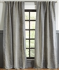 curtain panels grey striped linen