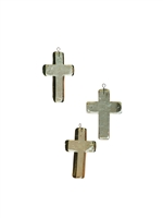 Glass Cross Christmas Ornaments Set (4) - Unique Holiday Décor