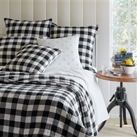 white black quilt throw pillow shams throw buffalo check cotton feather down insert