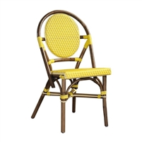 Paris Bistro Chairs yellow green blue